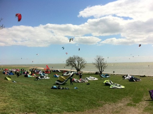 Schulungs Spot, Mirnser Kliff, Kitesurfen lernen, Ijsselmeer