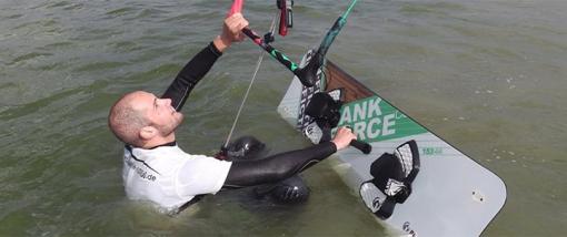 Kitesurfen - Grundlagen - Wasserstart